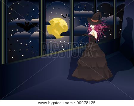 Witch On Balcony