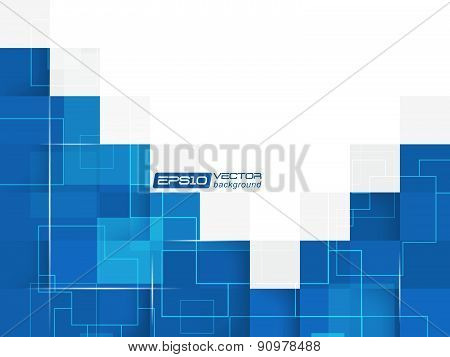 Abstract blue square vector background