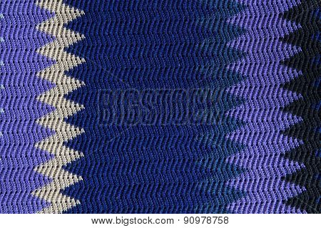 Knitted Seamless Fabric Pattern, Beautiful Blue Red Violet White Texture