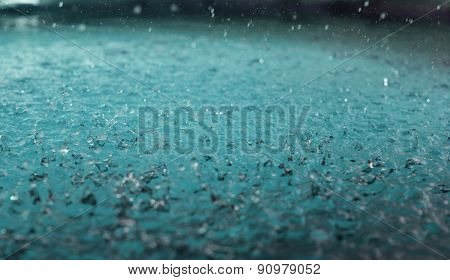 Raindrops On The Water
