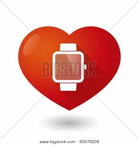 Heart Icon With A Smart Watch