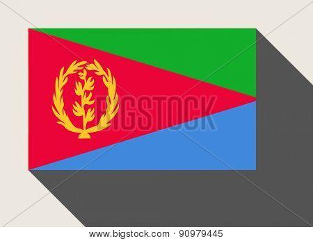 Eritrea flag in flat web design style.