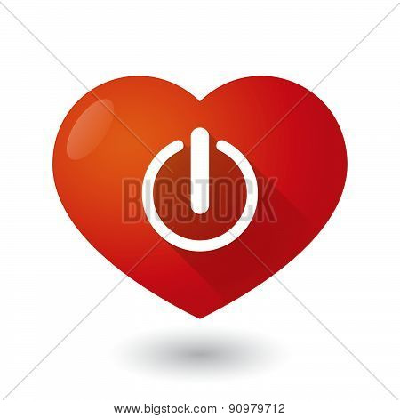 Heart Icon With An Off Sign