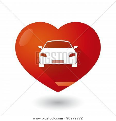 Heart Icon With A Car