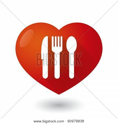 Heart Icon With Cutlery