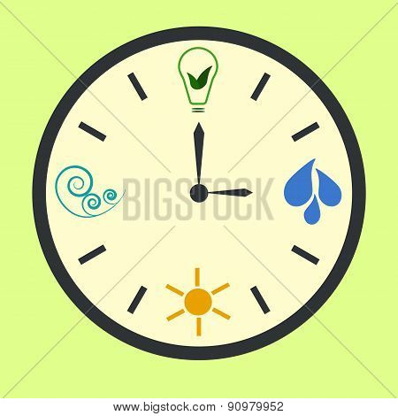 Eco energy clock