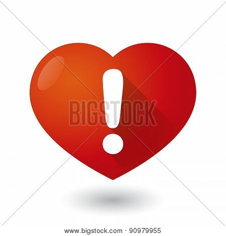 Heart Icon With An Exclamation Sign