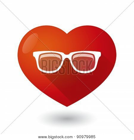 Heart Icon With A Glasses
