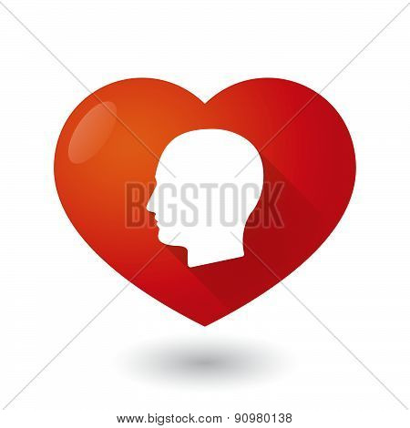 Heart Icon With A Male Head