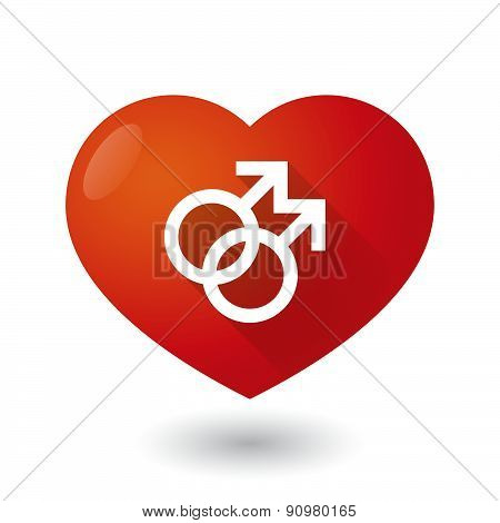 Heart Icon With A Gay Sign