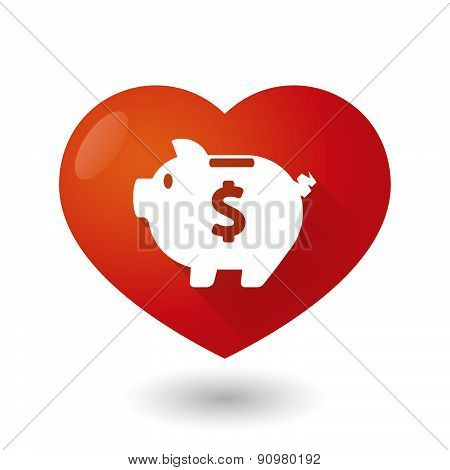 Heart Icon With A Piggy Bank