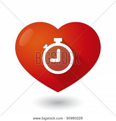 Heart Icon With A Timer
