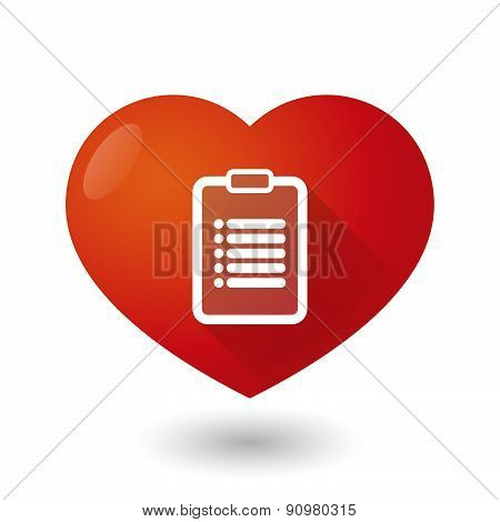 Heart Icon With A Report