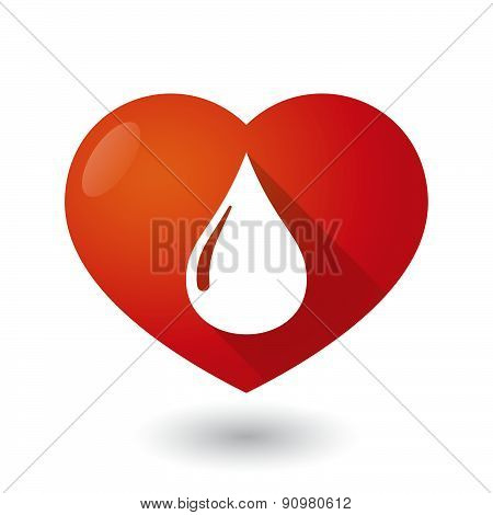 Heart Icon With A Fuel Drop