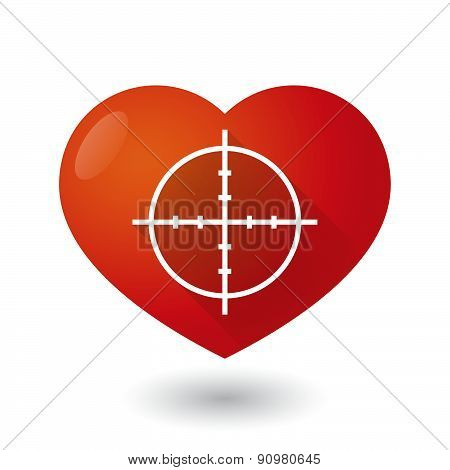 Heart Icon With A Crosshair