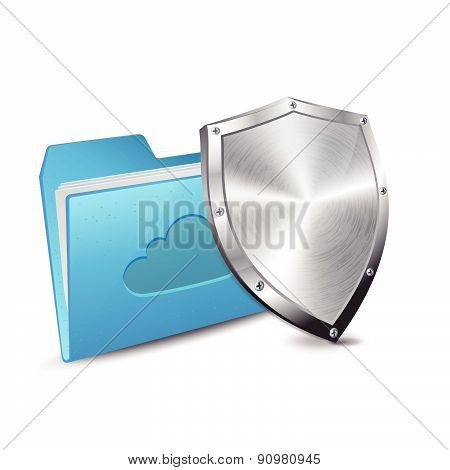 Cloud computing folder and protection shield