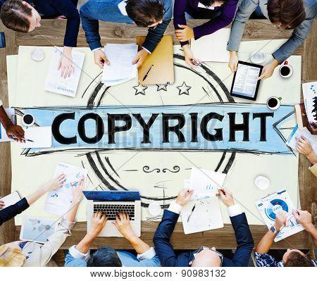 Copyright Trademark Brand Branding Marketing Concept