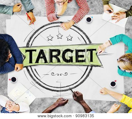 Target Marketing Point Targeting Success Concept