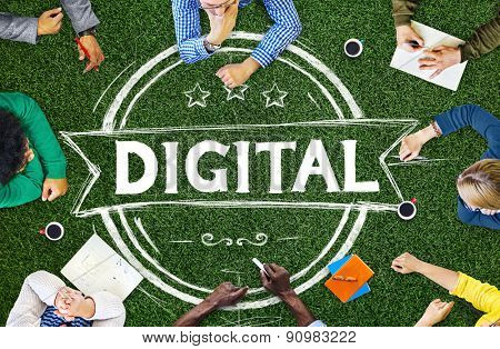 Digital Technology Creative Advanced Electronic Concept