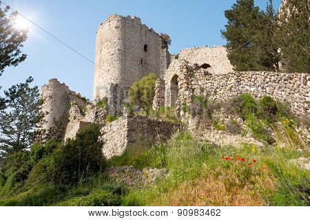 Kantara Castle In Northern Cyprus.