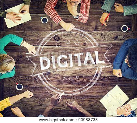 Digital Technology Electronic Wireless Virtual Concept