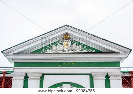 Closeup View On Gate In Peter And Paul Fortress In Saint-petersburg