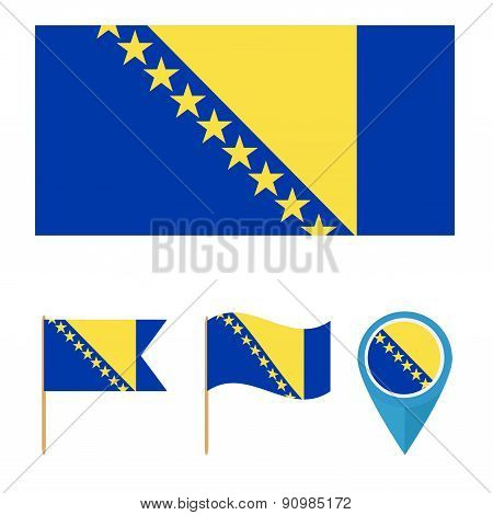 country flag, Bosnia and Herzegovina