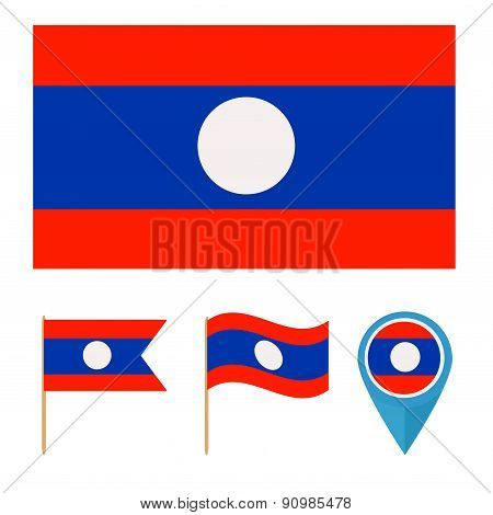 Laos,country flag