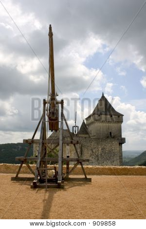 Trebuchet In Castelnaud, France