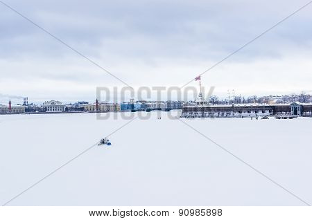 View On Peter And Paul Fortress In Saint-petersburg, Russia