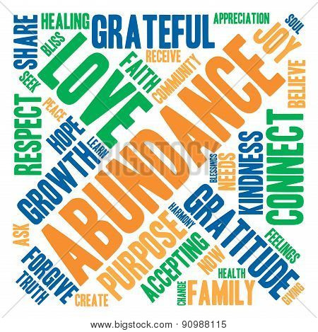 Abundance Word Cloud
