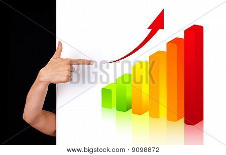 Woman Hand Pointing To Chart 2