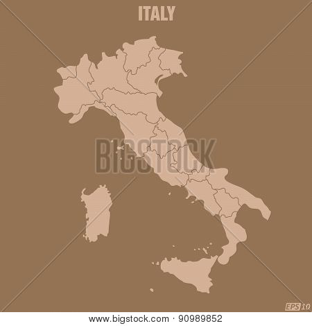 Italy Map - Illustration