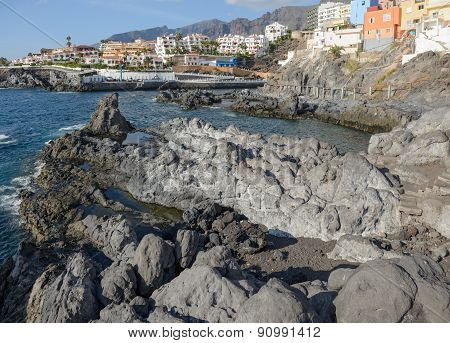 Coast View Towards Puerto De Santiago, Tenerife, Canary Islands, Spain.