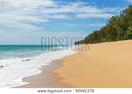 Beauty soft  beach in Pang-nga Thailand