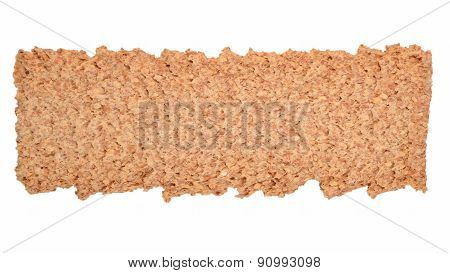 Crisp Cracker Isolated On White