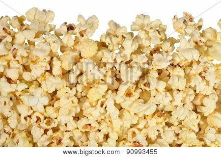 Fresh Popcorn On A White