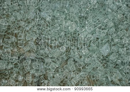 Fragments of a shattered glass