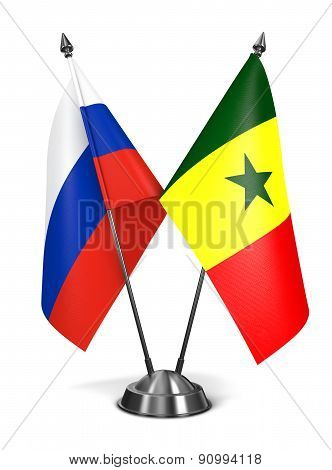 Russia and Senegal - Miniature Flags.