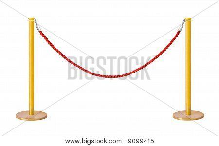 Golden Velvet Rope Barrier