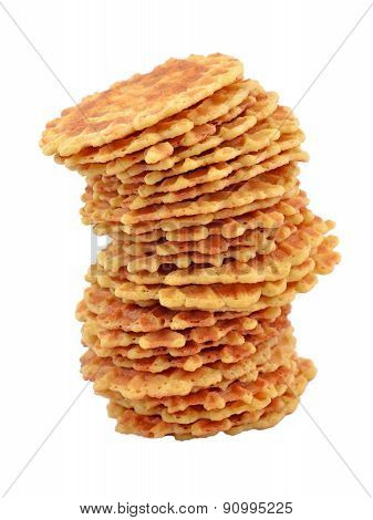 Pile Of Sweet Waffles.