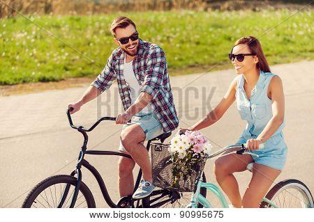 Enjoying The Summer Bike Ride.