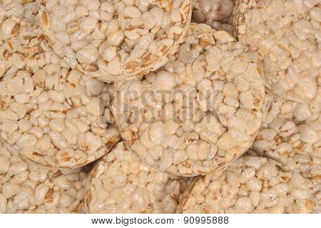 Puffed Rice Snack Close Up