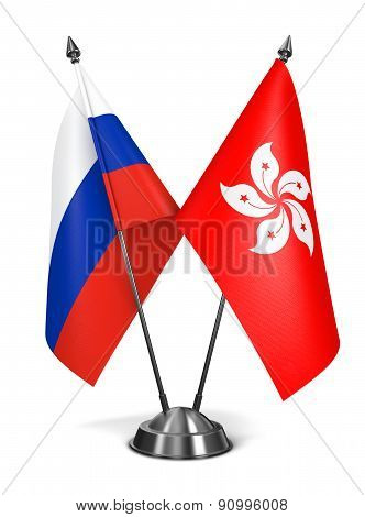 Russia and Hong Kong - Miniature Flags.