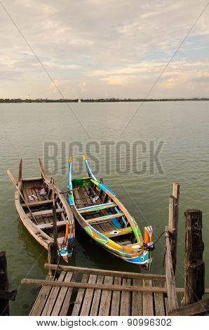 Boats In Taung Tha Man Lake