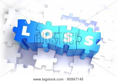 Loss - Text on Blue Puzzles.