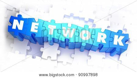 Network - Text on Blue Puzzles.