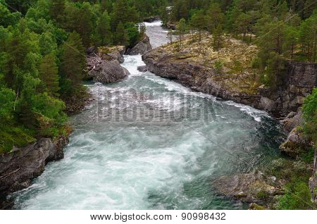 Highland Speed River Rauma And Rocky Riversides, Norway