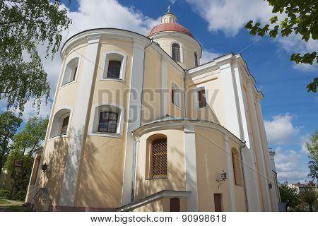 Exterior of the Orthodox church of the Holy Spirit in Vilnius, Lithuania.