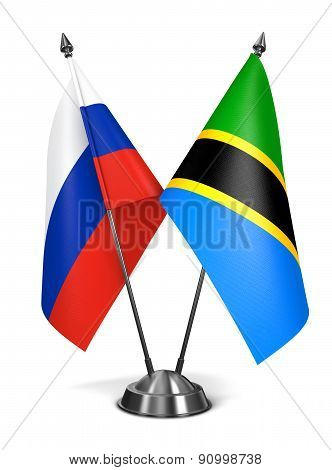 Russia and Tanzania - Miniature Flags.